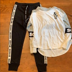 Justice Soccer Sweatpants and Hoodie Sz 12